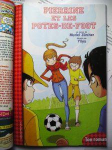 foot, fille, histoire, roman
