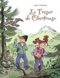 Muriel zurcher, nicolas Julo, editions moquito, BD pour enfant, BD d'aventure, Parc de Chartreuse, chasse aux trésors, BD, énigme, humour